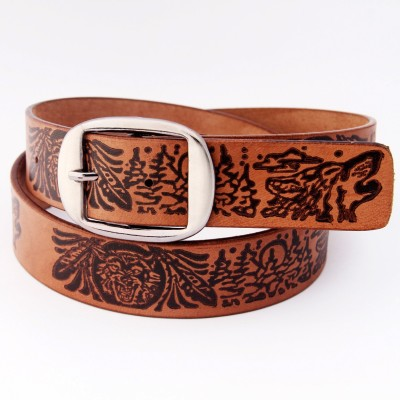 Royal Men Casual Brown Genuine Leather Belt