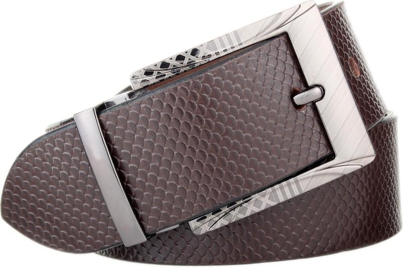 The Blue Pink Men Brown Genuine Leather Belt