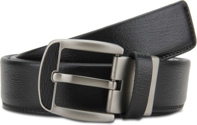 Turtle Men Formal Black Genuine Leather Belt