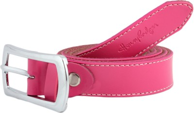 Honey Badger Women Casual Pink Artificial Leather Belt