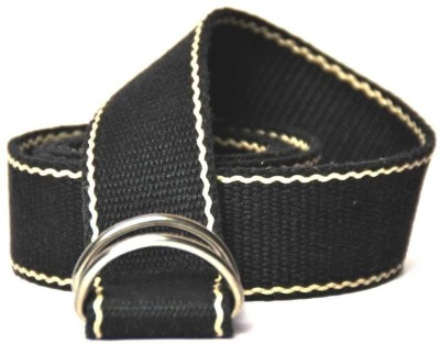 Anekaant Boys, Girls Casual Black Fabric Belt