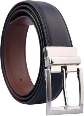 Fashno Men Black, Brown Artificial Leather Reversible Belt