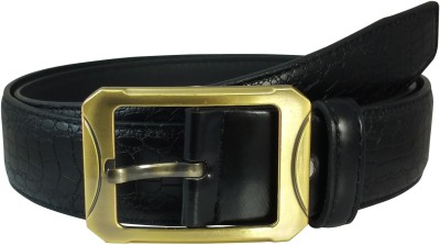Ammvi Creations Men Casual Black Artificial Leather Belt