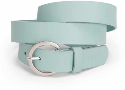 Viari Women Casual Blue Genuine Leather Belt