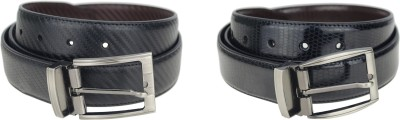 Kaos Men, Boys Formal, Casual Brown, Black Genuine Leather Reversible Belt
