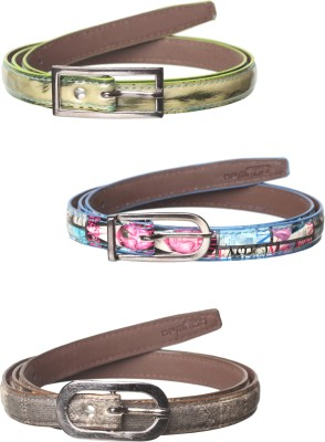 Spairow Girls Green, Blue, Brown Synthetic Belt