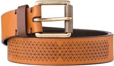 Kassa Men, Women Casual Brown Genuine Leather Belt