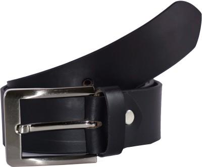 Global Leather Boys, Men, Girls, Women Formal, Casual, Party, Evening Black Genuine Leather Belt