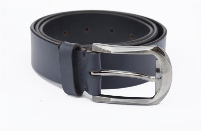Crapgoos Men Casual Blue Genuine Leather Belt
