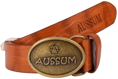 AUSSUM Boys Casual Brown Artificial Leather Belt