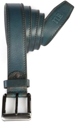 TLB Men Casual Green Genuine Leather Belt