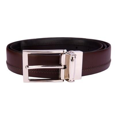 Bulchee Men, Boys Black, Brown Genuine Leather Belt