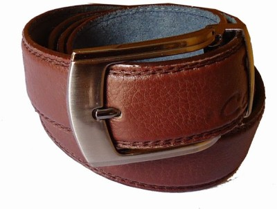 MMS Men Formal Brown Fabric Belt
