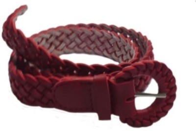 Shop & Shoppee Men, Women Casual Maroon Canvas Belt