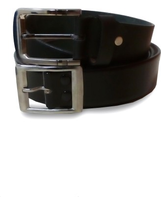 VICTORIA SECRET INDIA Men Casual Black, Black Artificial Leather Belt