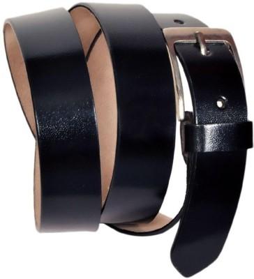 Shoppingstore Men Black Genuine Leather Belt