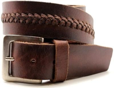 UrbanVintage Boys, Girls Casual Tan Genuine Leather Belt