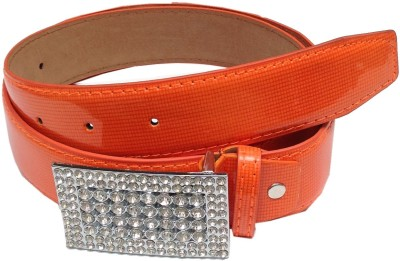 Grace Fashion Villa Girls Orange Artificial Leather Belt