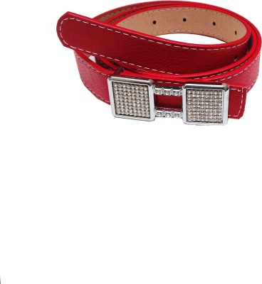 Grace Fashion Villa Women Red Artificial Leather Belt