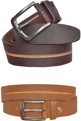 sankalp Boys Casual Maroon Genuine Leather Belt