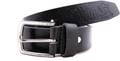 Bonafide Leathers Men Black Genuine Leather Belt
