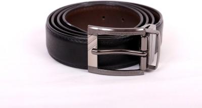 Alexs Men Casual Black Genuine Leather Belt