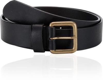 Orkee Men Casual Black Genuine Leather Belt