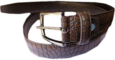 DCS Men Casual Brown Artificial Leather Belt