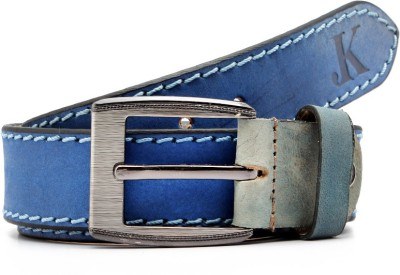 Junckers Men, Boys, Girls Casual, Party, Evening Blue Genuine Leather Belt