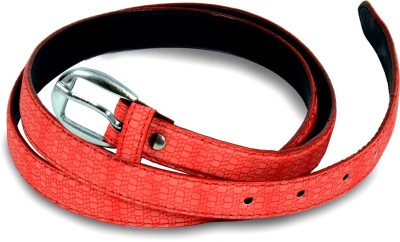 Victoria Secret Women Red Artificial Leather Belt