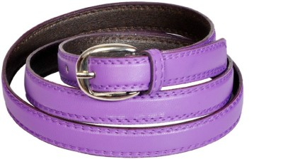 Swan Collection Girls, Women Casual, Evening, Formal Purple Artificial Leather Belt