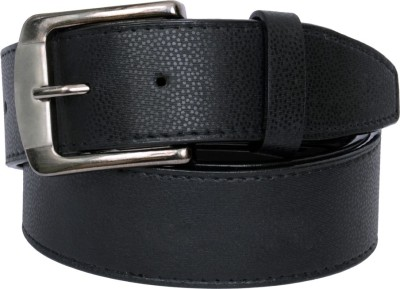 The Brandstand Men Casual Black Texas Leatherite Belt