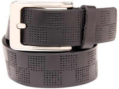Leather Plus Men Casual Black Genuine Leather Belt