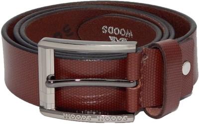 Woods Men, Boys Formal, Casual Brown Genuine Leather Belt