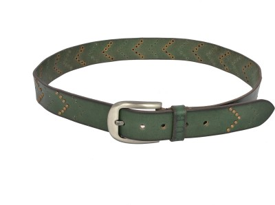 Fub Men Casual Green Genuine Leather Belt