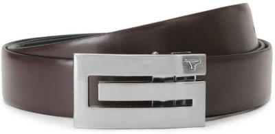 Bulchee Men Black, Brown Metal Reversible Belt