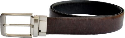 Kara Men Formal Black, Brown Genuine Leather Reversible Belt
