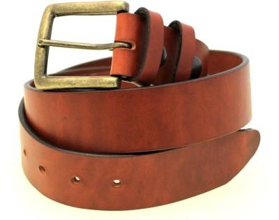 Naysa Men Formal Tan Genuine Leather Belt