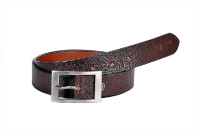 Sash Men Formal Brown Genuine Leather Belt