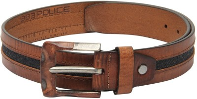 883 Police Men Brown Genuine Leather Belt