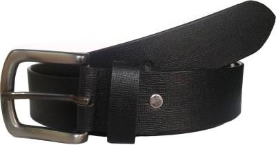Czar Enterprises Men Formal Black Genuine Leather Belt