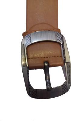 Attitude Works Men Orange Artificial Leather Belt