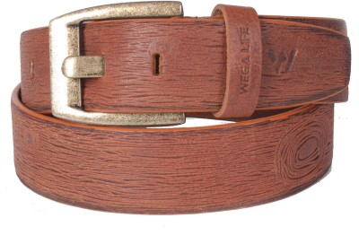Wega Life Men, Boys Casual Tan Genuine Leather Belt