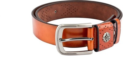 Swiss Design Men Casual Tan Genuine Leather Belt