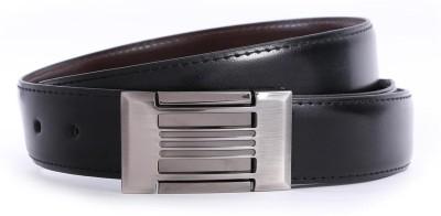 Bluth Men Formal Black Artificial Leather Belt