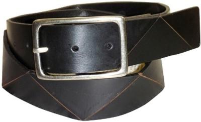 LaPalma Men Casual Black Genuine Leather Belt