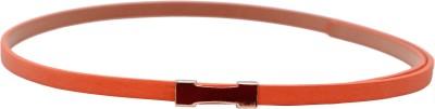 Stylehoops Women, Girls Casual, Evening, Party Orange Artificial Leather Belt