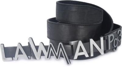 LAWMAN PG3 Men Black Artificial Leather Belt