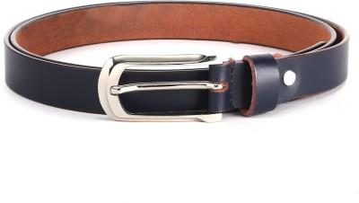 The Deer Club Women Casual Blue Genuine Leather Belt
