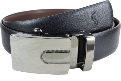 Sizzlers Men Black Genuine Leather Belt